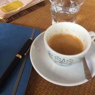 Double espresso at La Boheme